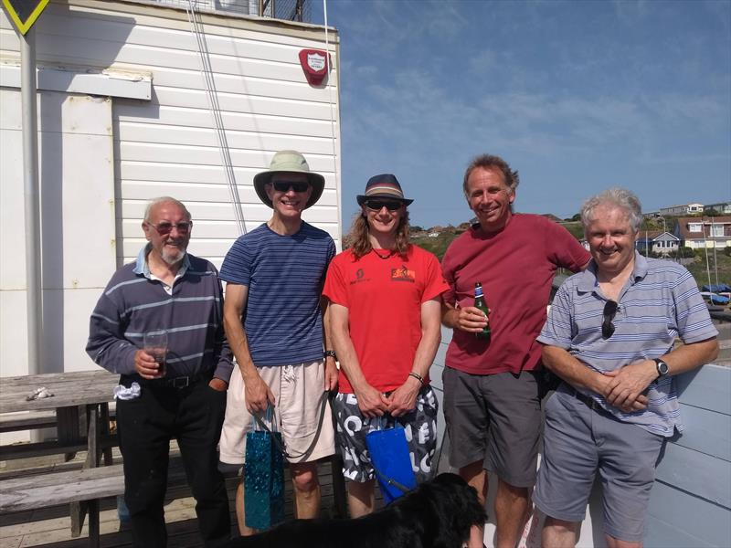 Streaker sailors at Newhaven & Seaford Sailing Club (l-r) Alan Simmons, Neil Firth, James Dawes, Rupert Smith and Chris Smith - photo © Sue Firth