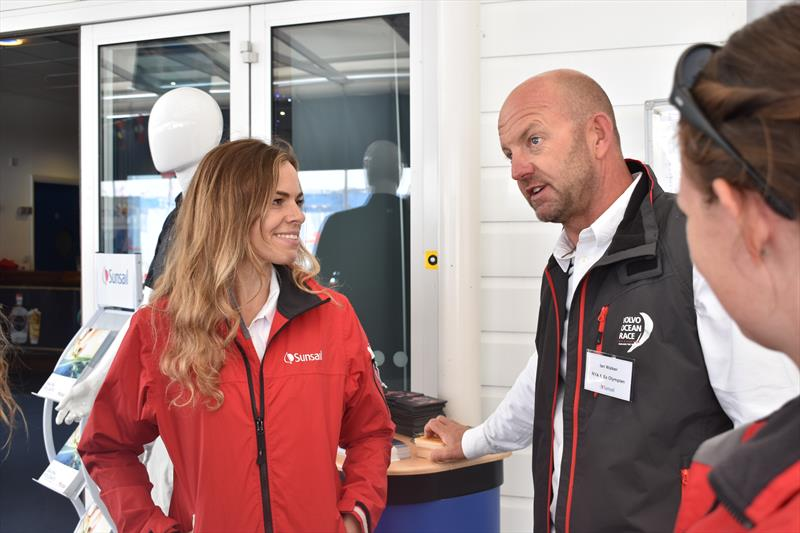 Lucy Black of Sunsail with Ian Walker at Lendy Cowes Week 2017 - photo © Sunsail