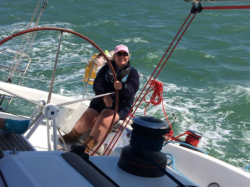 Karen Rawson - Chief Instructor shortlisted for Elemis Ladies Day Award at Lendy Cowes Week 2017 - photo © Sunsail