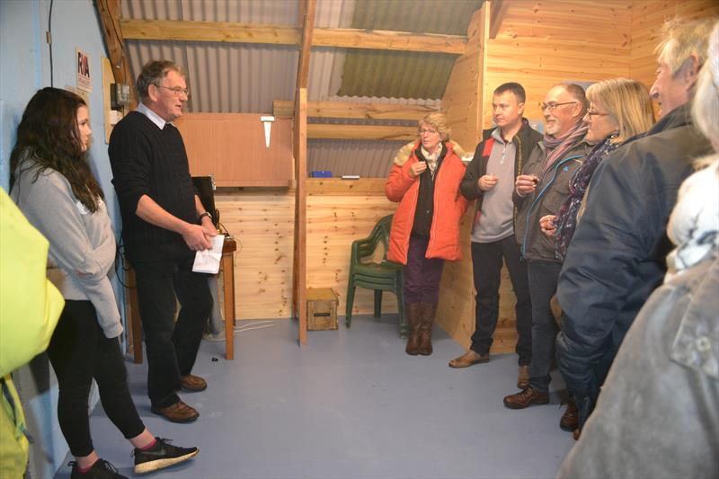 A word from the Vice Chairman as Solva Sailing Club's new changing rooms are officially opened photo copyright Helen Hughes taken at Solva Sailing Club and featuring the  class
