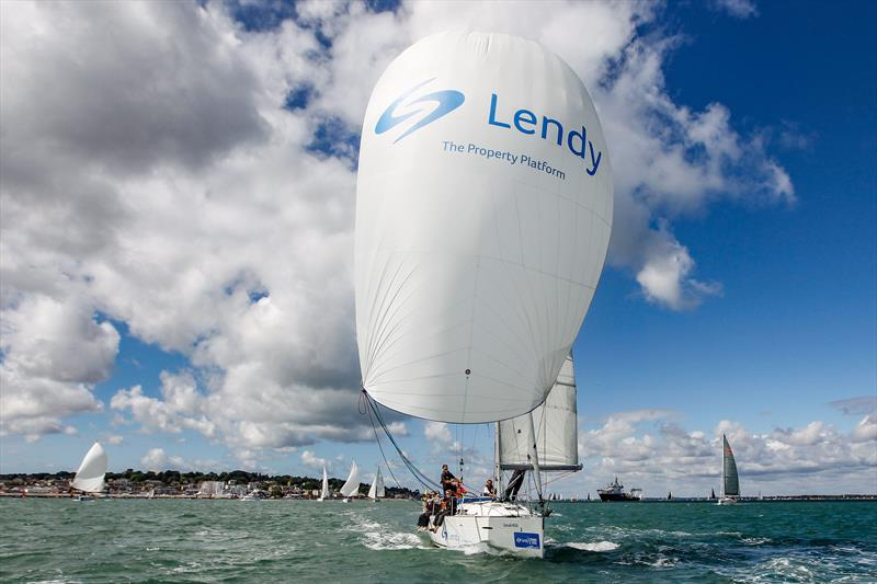 Sunsail F40 'Lendy' on day 5 Lendy Cowes Week © Paul Wyeth / CWL