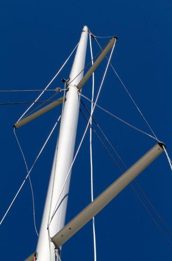 Super Spars Dragon Evolution mast photo copyright Super Spars taken at  and featuring the  class
