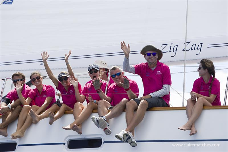 The crew of Oyster 82 Zig Zag - Superyacht Challenge Antigua 2018 - photo © Claire Matches / www.clairematches.com