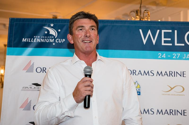 Orams Marine's Craig Park speaks at superyacht regatta, the NZ Millennium Cup earlier this year photo copyright Orams Marine taken at  and featuring the Superyacht class
