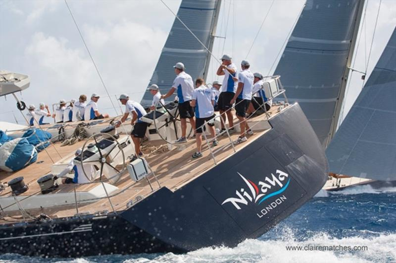 The 112ft (34m) Reichel Pugh sloop Nilaya - 2018 Superyacht Challenge Antigua - photo © Claire Matches / www.clairematches.com