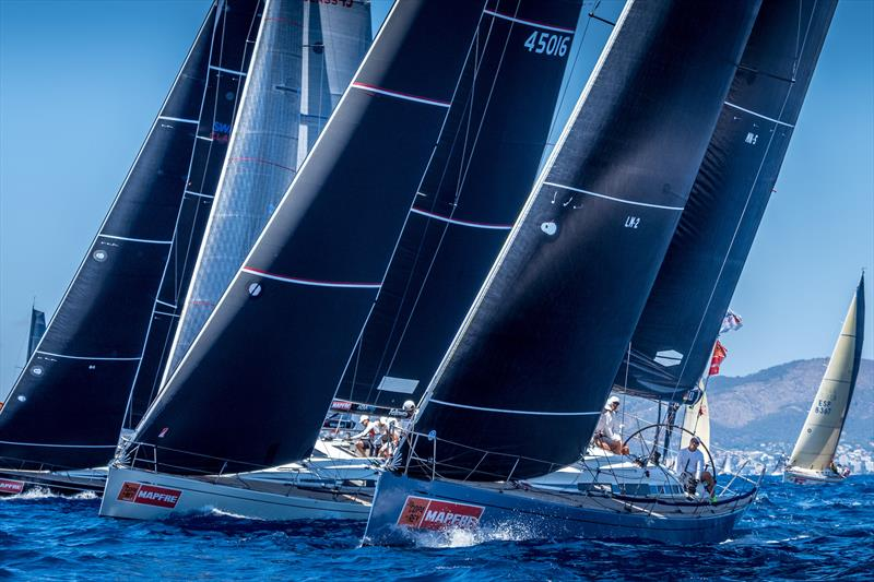 Swing Cube (centre) new leader in the Swan 45 class on day 2 at 38 Copa del Rey MAPFRE - photo © Nico Martínez / Copa del Rey MAPFRE