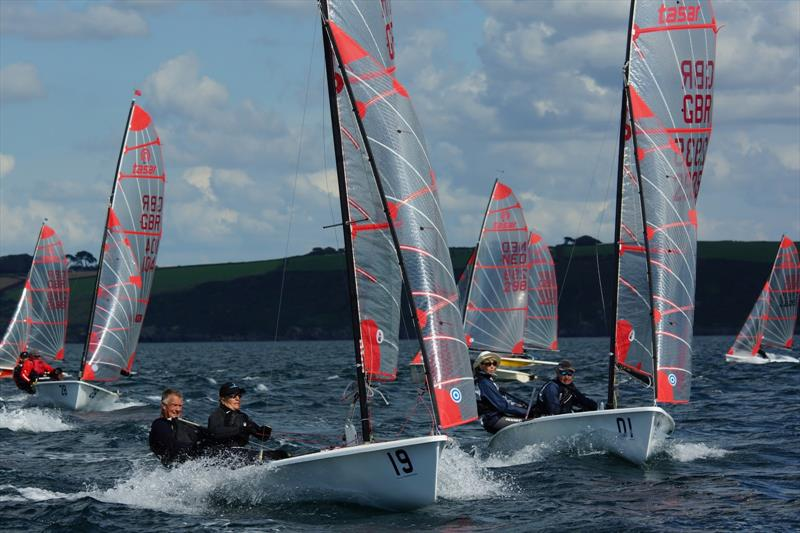 Racing during the Tasar Nationals at Porthpean - photo © Chris Bilkey
