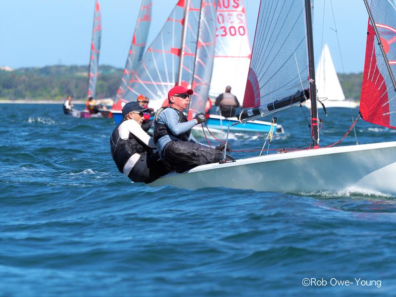 Rick Longbottom & Darryl Bentley finish 3rd in the NSW Tasar State Championship photo copyright Rob Owe-Young taken at Georges River 16ft Skiff Sailing Club  and featuring the Tasar class