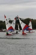 Thirty-two sailing teams from across the country took part in the National School Sailing Association's Team Racing Championships © James Hamilton
