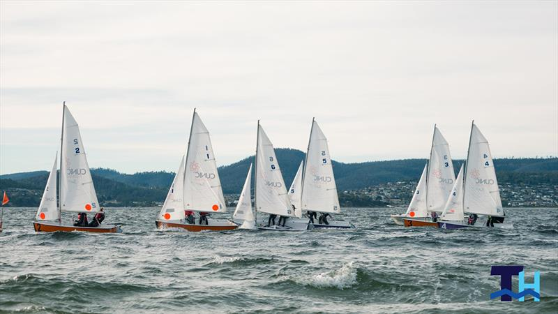 Australian schools team racing on the Derwent in June won by Scots College Sydney with Ascham School winning the girls event. photo copyright Tom Hodge Media taken at Sandy Bay Sailing Club and featuring the Team Racing class