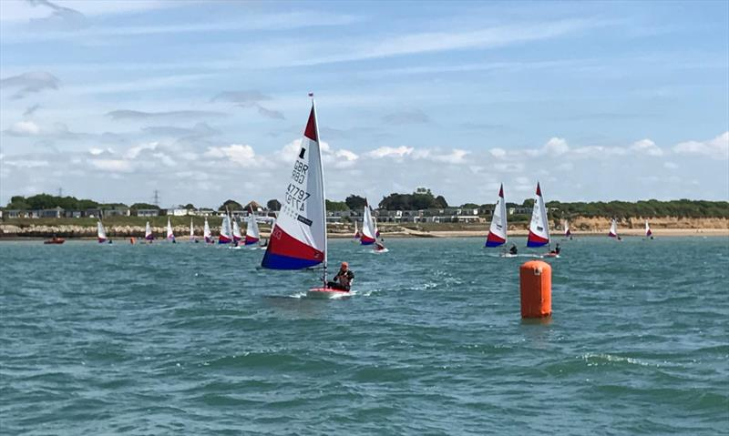 Rooster Southern Area Topper Travellers at Warsash photo copyright Ian Walker taken at Warsash Sailing Club and featuring the Topper class
