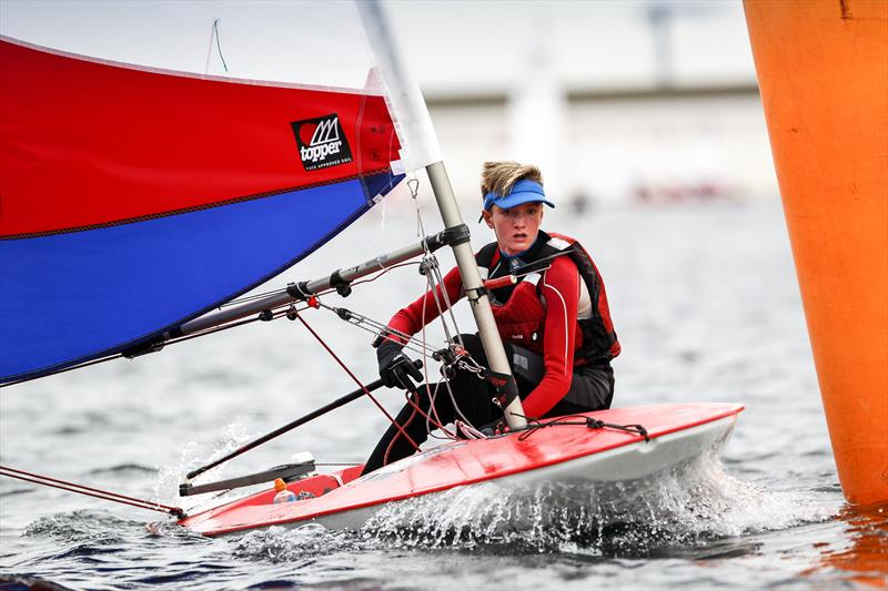 Aaron Evans wins the Topper fleet in London and the South East during the RYA Zone and Home Country Championships - photo © Paul Wyeth / RYA
