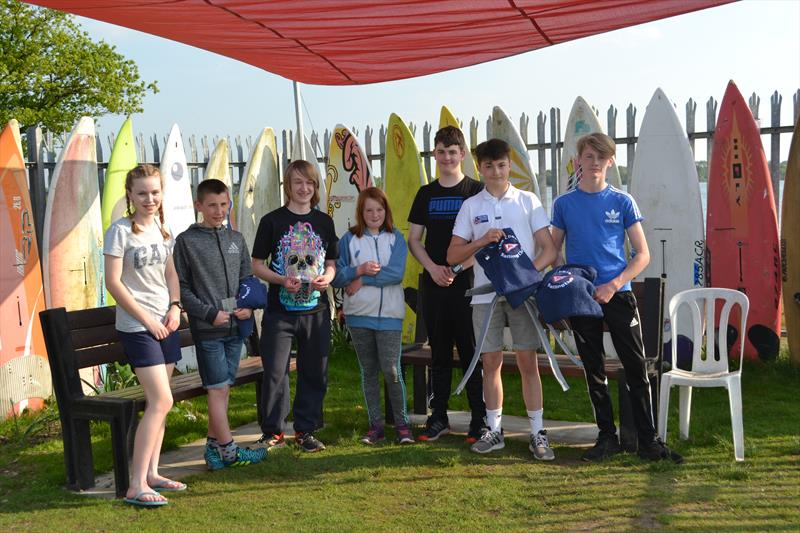 The prize winners in the Chase Youth Sailing Gazebo during the Midlands Topper Traveller - photo © V Turnbull
