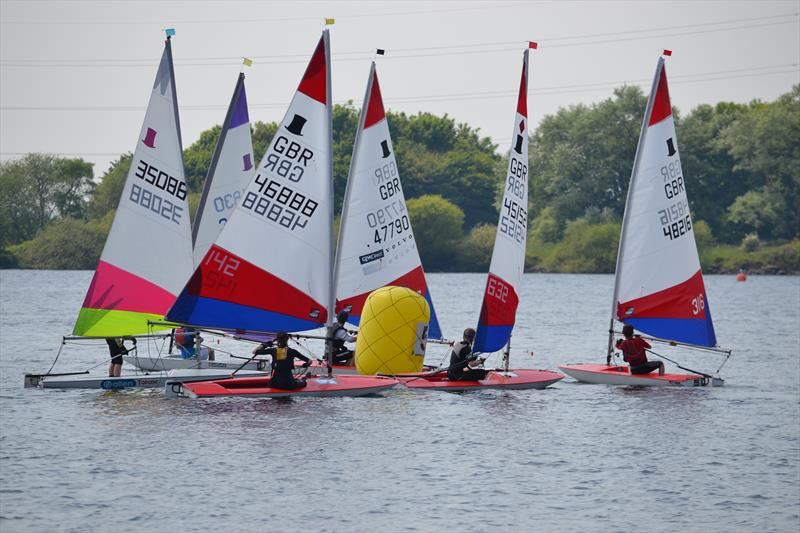 Competitive close racing throughout the fleet during the Midlands Topper Travellers at Chase - photo © V Turnbull