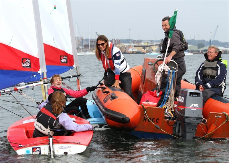 Bryony Shaw visits the 2013 RYA Zone and Home Country Championships at Poole - photo © Mike Millard