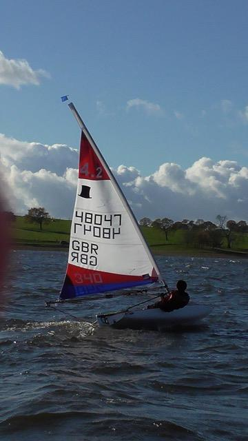 Blithfield Barrel Winter Series 2017-18 Round 1 photo copyright Chris Martin taken at Blithfield Sailing Club and featuring the Topper 4.2 class