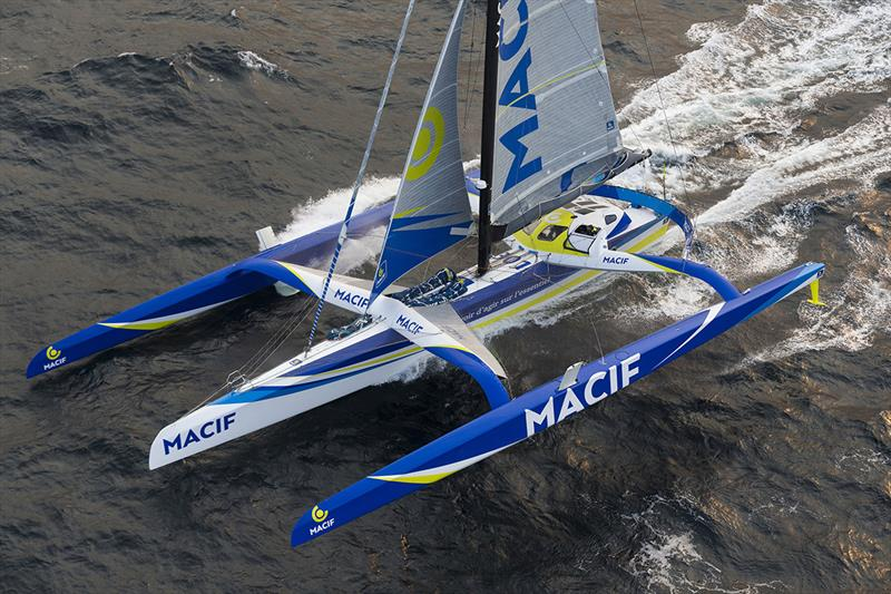 François Gabart focussed and happy in Solo Round the World Record