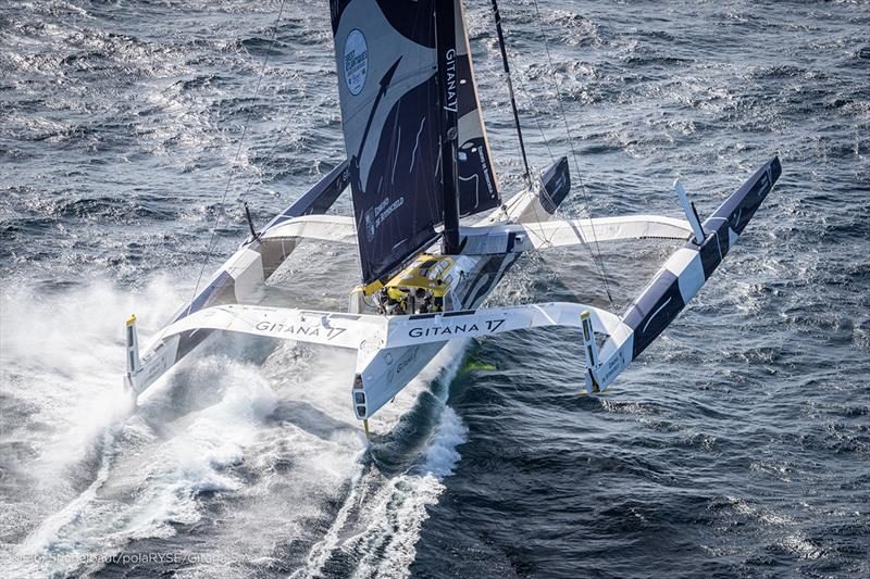 The Maxi Edmond de Rothschild. training offshore Lorient before Brest Atlantique, skipper Franck Cammas & Charles Caudrelier. - photo © Eloi Stichelbaut / PolaRYSE / Gitana SA