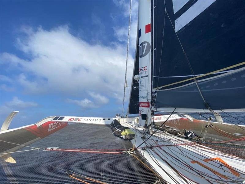 Tea Route record: A tense weekend ahead photo copyright IDEC Sport taken at  and featuring the Trimaran class