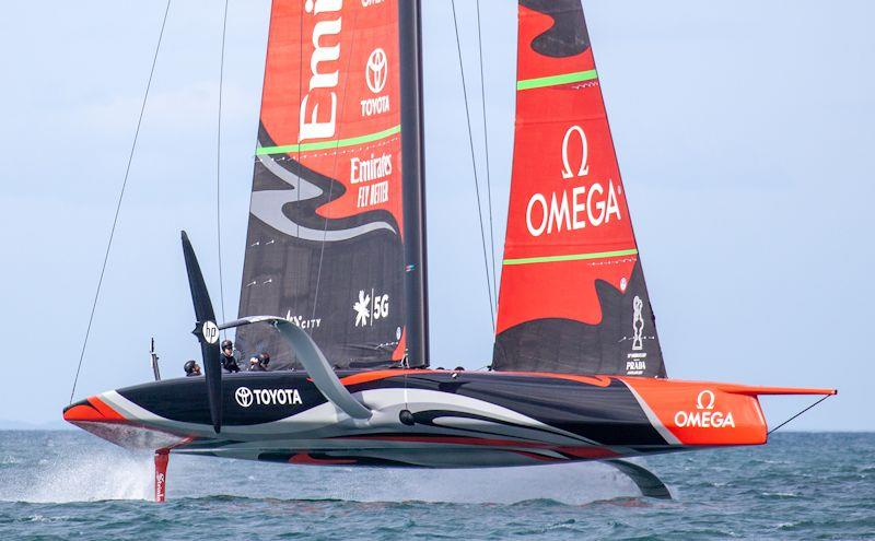 Emirates Team New Zealand's AC75 is supplied with Armare Ropes - photo © Richard Hodder / ETNZ