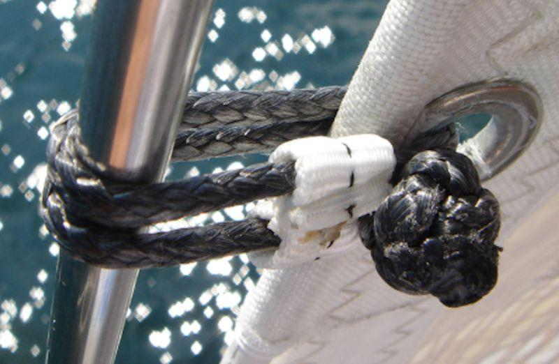 Soft connections can also be used on a staysail luff - photo © upffront.com