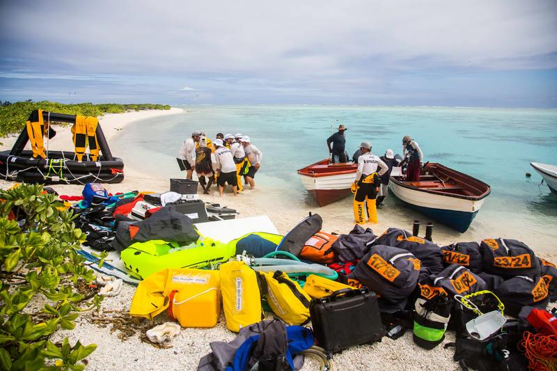 Team Vestas Wind recover equipment from Cargados Carajos Shoals, Mauritius - photo © Brian Carlin / Team Vestas Wind / Volvo Ocean Race