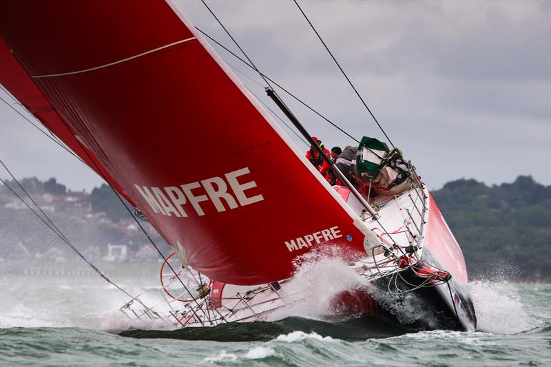 The Volvo Ocean Race fleet start Leg 0 sailing Round the Isle of Wight at Lendy Cowes Week - photo © Tom Gruitt / CWL