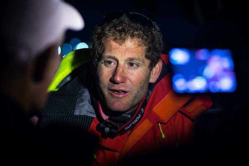 Dongfeng skipper Charles Caudrelier after the Rolex Fastnet Race