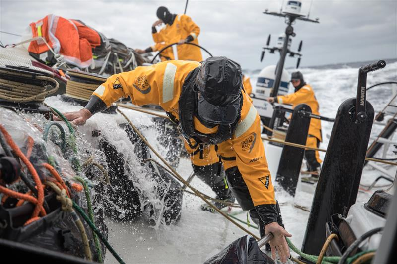 On board Turn the Tide on Plastic during Volvo Ocean Race Leg 2: Lisbon to Cape Town photo copyright Sam Greenfield / Volvo Ocean Race taken at  and featuring the Volvo One-Design class