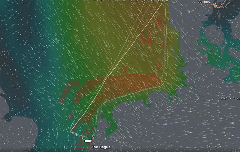 Dongfeng Race Team's inshore route on the right to secure the Volvo Ocean Race 2017-18 trophy photo copyright Volvo Ocean Race taken at  and featuring the Volvo One-Design class