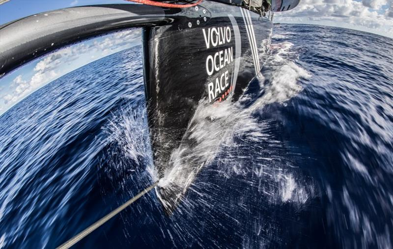 Volvo Ocean Race Leg 4, Melbourne to Hong Kong, day 10 Bow spray on board Sun Hung Kai / Scallywag. photo copyright Konrad Frost / Volvo Ocean Race taken at  and featuring the Volvo One-Design class