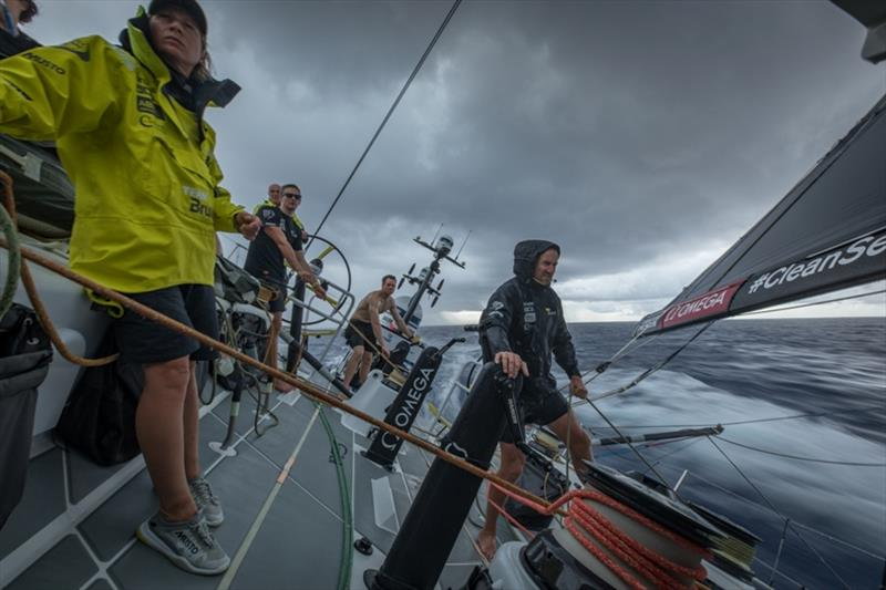 Volvo Ocean Race Leg 4, Melbourne to Hong Kong, day 12 on board Brunel .Rain cloud while crossing the equator. - photo © Yann Riou / Volvo Ocean Race