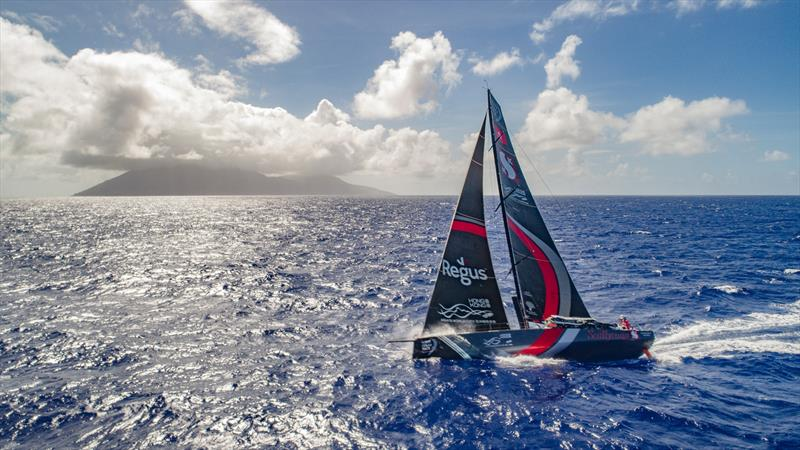 Leg 6 to Auckland, Day 07 on board Sun hung Kai / Scallywag. Islands. Drone shots. Crossing path with USA territory islands, looked like a small volcano from the boat.13 February, . photo copyright Jeremie Lecaudey / Volvo Ocean Race taken at  and featuring the Volvo One-Design class