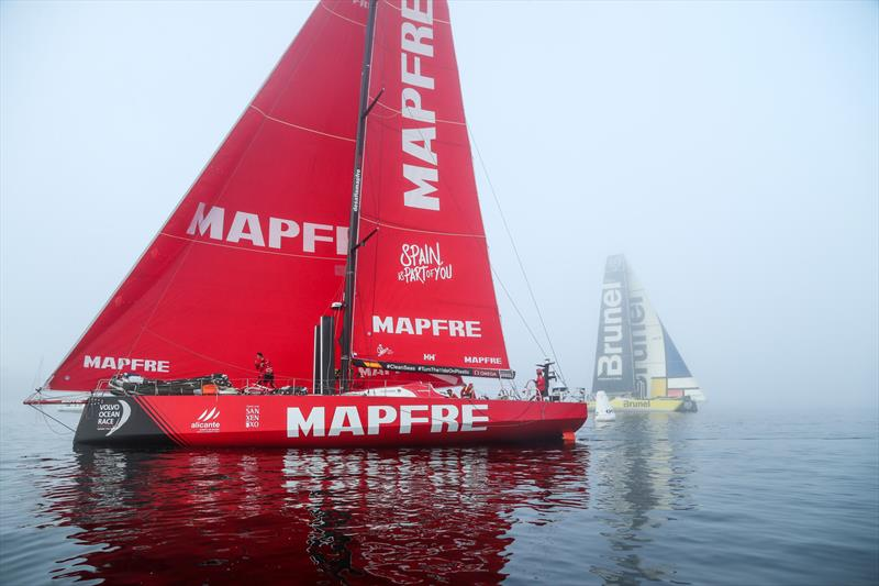 MAPFRE and Team Brunel - Leg 8 from Itajai to Newport. Arrivals. 08 May, . - photo © Jesus Renedo / Volvo Ocean Race