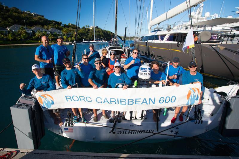 Team Wizard after completing the race in Antigua - RORC Caribbean 600 - photo © Arthur Daniel / RORC