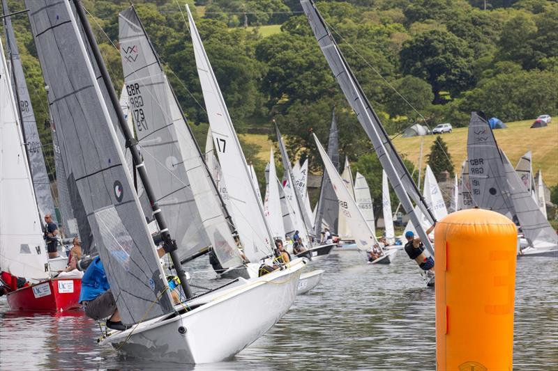 Rounding the first mark on Saturday during the Lord Birkett Memorial Trophy 2018 at Ullswater  photo copyright Tim Olin / www.olinphoto.co.uk taken at Ullswater Yacht Club and featuring the VX One class