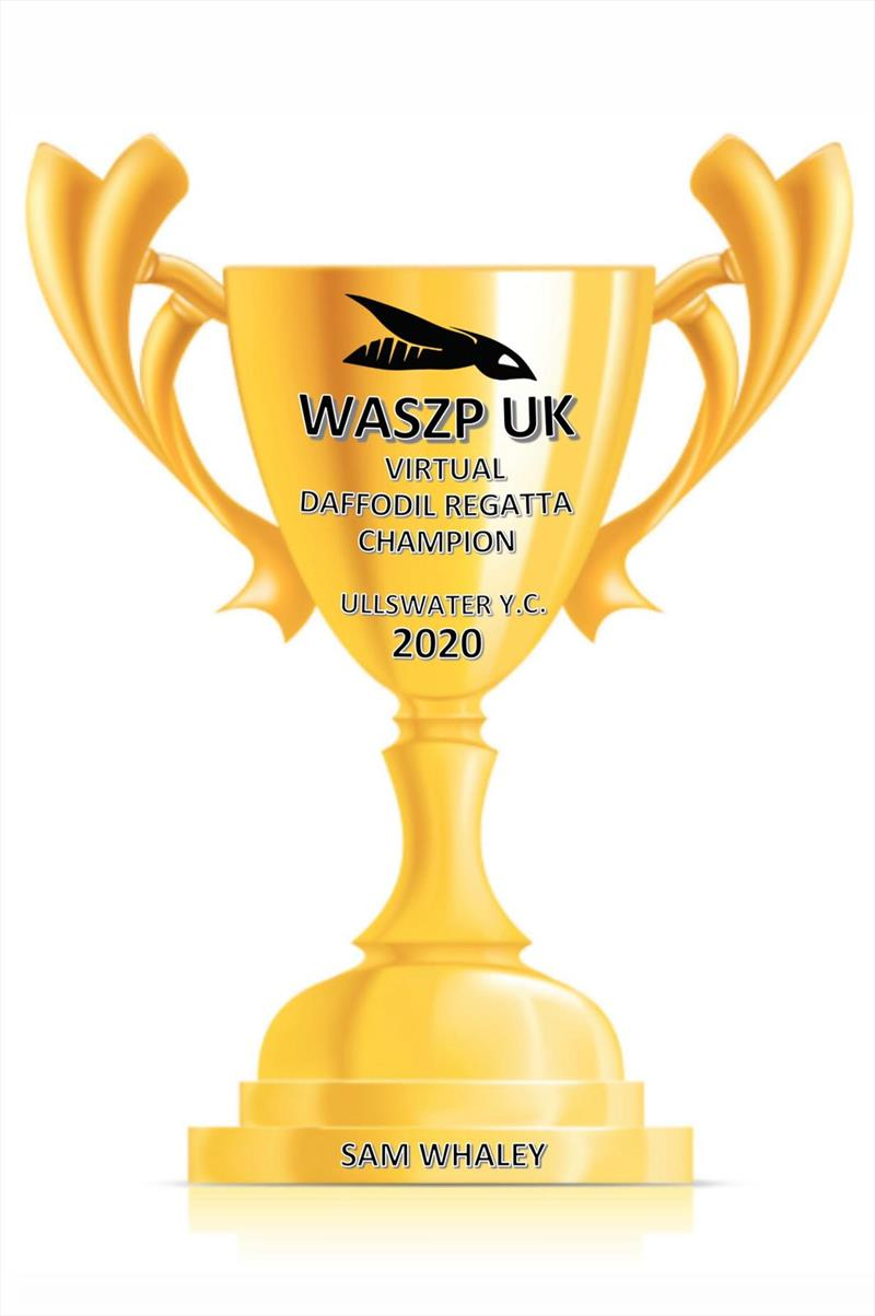 Waszp Ullswater Daffodil Virtual Regatta trophy photo copyright Petrina Blomeley taken at Ullswater Yacht Club and featuring the WASZP class
