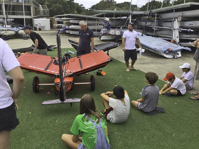 Preparing the WASZP at the Harken Kidz Trials as part of Foiling Week - photo © Grant Pellew
