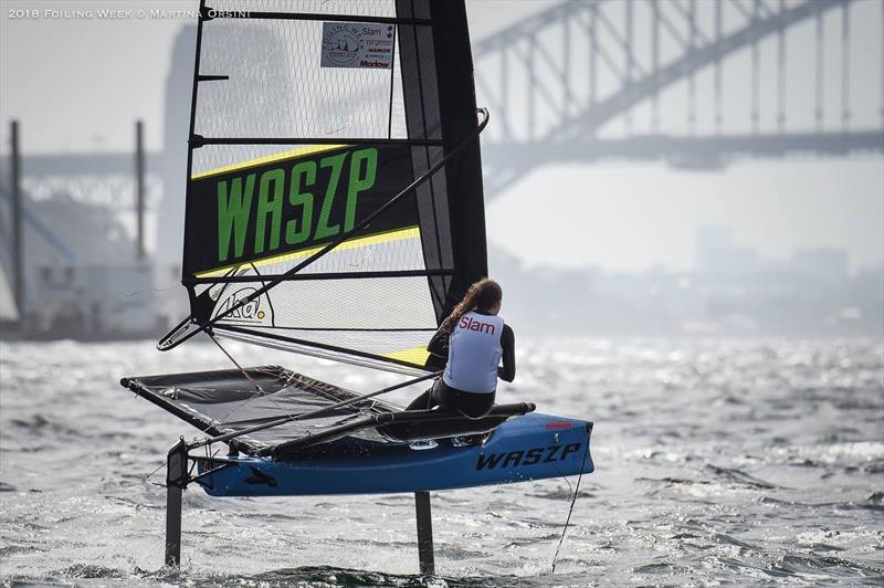 On the water for the Harken Kidz Trials as part of Foiling Week - photo © Martina Orsini