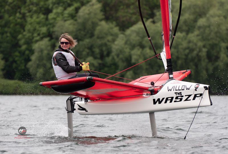 'Willow the Waszp' in the Zhik WASZP UK National Championships at Rutland - photo © Hartas Productions