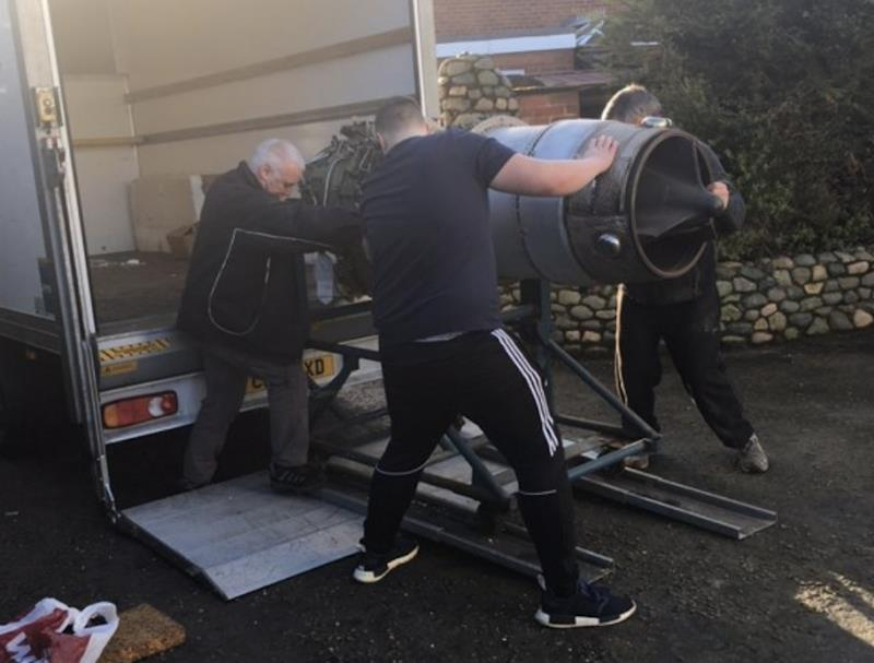 Longbow will be powered by a pair of Rolls Royce jet engine. Here is one of them being delivered to the workshop in Lancashire - photo © West System International