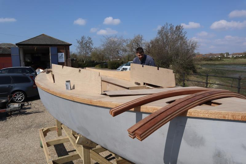 Out in the yard, the part-completed Secret 20 kit boat donated by Practical Boat Owner magazine is taking shape - photo © Wessex Resins & Adhesives