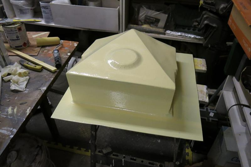 Moulding an oil drip tray with epoxy resin - photo © Wessex Resins & Adhesives