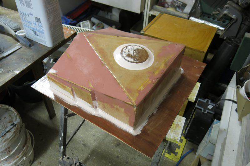 Moulding an oil drip tray with epoxy resin - step 6 - photo © Wessex Resins & Adhesives