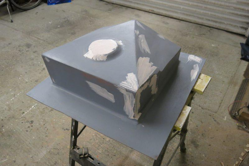 Moulding an oil drip tray with epoxy resin - step 7 - photo © Wessex Resins & Adhesives