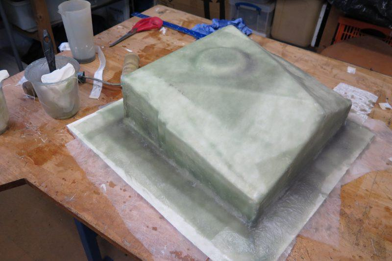 Moulding an oil drip tray with epoxy resin - step 10 - photo © Wessex Resins & Adhesives