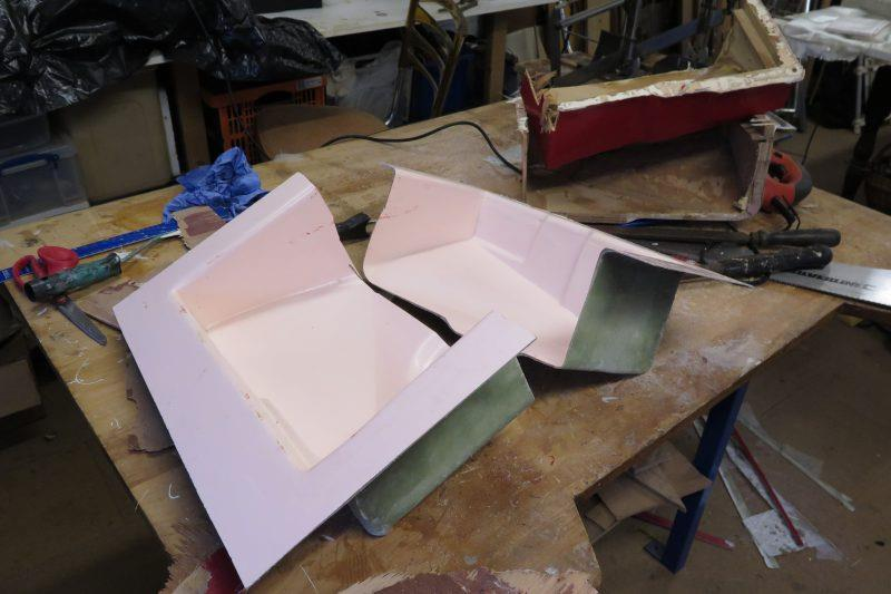 Moulding an oil drip tray with epoxy resin - step 11 - photo © Wessex Resins & Adhesives