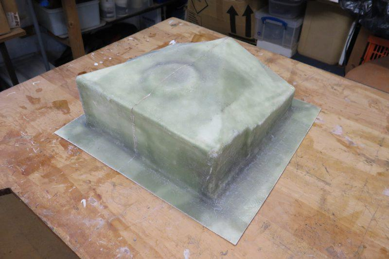 Moulding an oil drip tray with epoxy resin - step 13 - photo © Wessex Resins & Adhesives