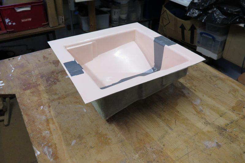 Moulding an oil drip tray with epoxy resin - step 12 - photo © Wessex Resins & Adhesives
