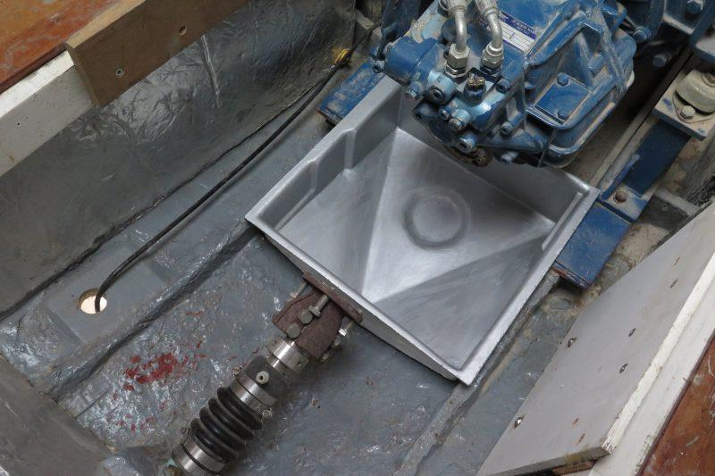 Moulding an oil drip tray with epoxy resin - step 17 - photo © Wessex Resins & Adhesives